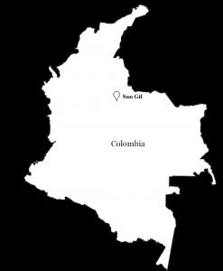 San Gil Colombia kaart locatie map