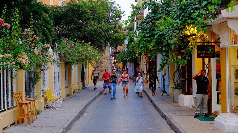 de straatjes van cartagena colombia