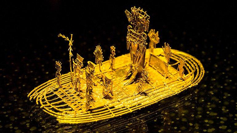 bogota colombia goudmuseum museo del oro mappea