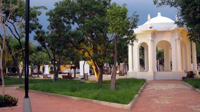 Parque de los novios santa marta colombia