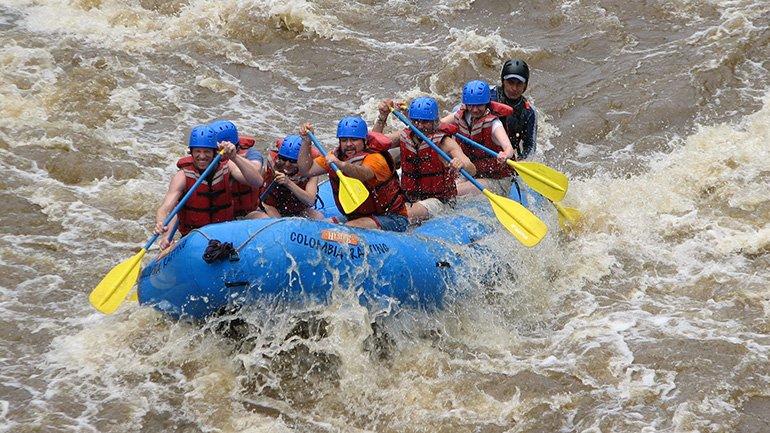 Raften San Gil Colombia Rio suarez rio fonce