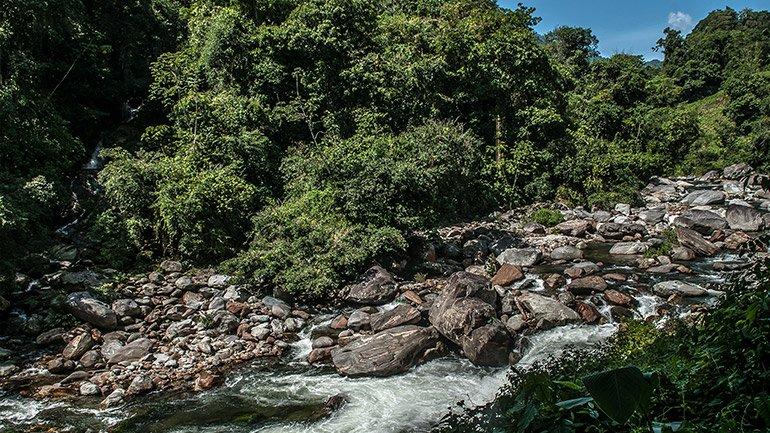 Buritica river Ciudad Perdida Colombia